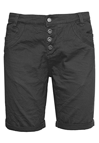 Urban Surface Damen Bermuda Shorts | Bequeme kurze Stoffhose aus Stretch-Twill - Loose Fit dark-grey L