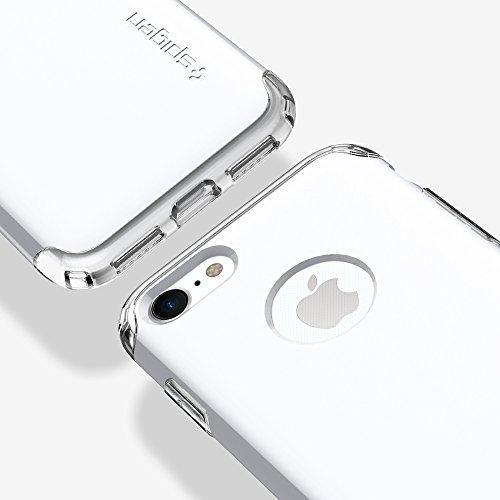 Coque iPhone 7, Housse Spigen [Hybrid Armor] AIR CUSHION [Or Rose] Clear TPU / PC Frame Slim Dual Layer Premium Coque Pour iPhone 7 - (042CS20696) HA Jet White