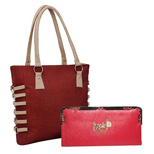 Alice Premium PU Leather Women's And Girl's Handbag And Wallet Clutch Combo below 500