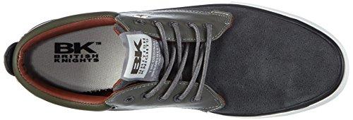 British Knights Juno, Sneakers basses homme Gris - Grau (Grey-Olive-Cognac 05)