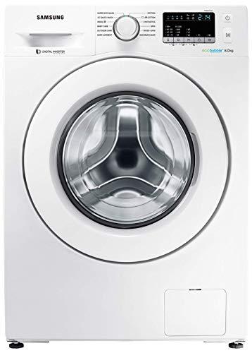 Samsung 8 kg Fully-Automatic Front Loading Washing Machine (WW80J4243MW/TL, white)