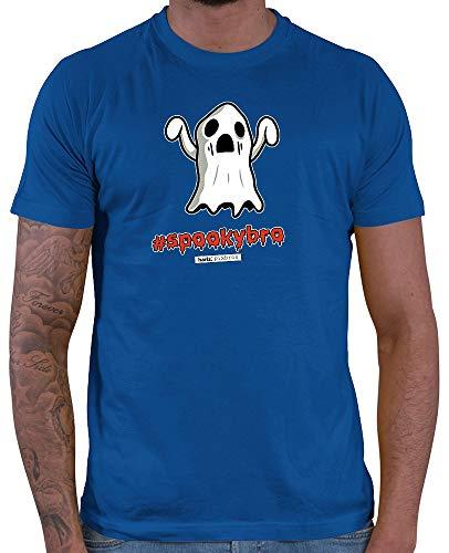 HARIZ  Herren T-Shirt Pixbros Spookybro Halloween Kostüm Horror Umhang Plus Geschenkkarte Royal Blau ()