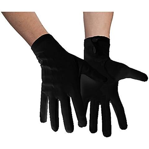 Handgelenk Handschuhe Baumwolle schwarz Herren für Abendgarderobe Partys Kostüme (XL)