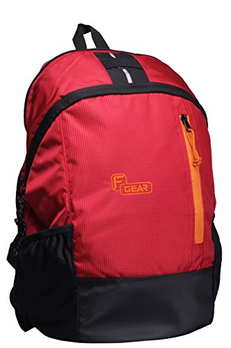 F Gear Rocco 21 Liters Backpack (Red Black)  available at amazon for Rs.499