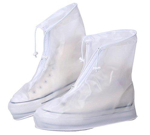 Eagsouni® 1Paar Regenüberschuhe Wasserdicht Schuhe Abdeckung Stiefel Flache Regen Überschuhe Regenkombi Schuhüberzieher Rutschfestem für Damen Mädchen Herren Jungen (Damen Überschuhe)