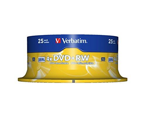 Blank DVD+RW 4.7 GB Verbatim 43489 25 pc(s) Spindl lowest price