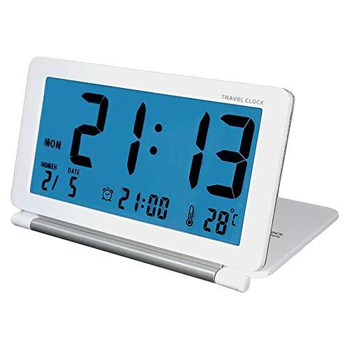 Thermometer-abdeckungen (PORJH LED Slim Flip Clock Flexible Abdeckung Startseite Wand Wecker Thermometer Kalender Portable Desktop Clock,White)