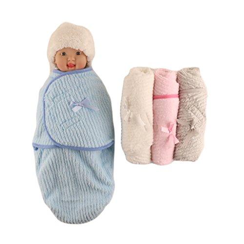 Einschlagdecke Neugeborenes 0-3 Monate Wickeltuch Babydecke Pucktücher 30cm x 56cm,Weiß