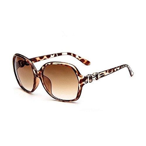 Lubier Polarisierte Sonnenbrille forwomen Sonnenbrille Oversized trendige Dark Objektive Retro Sonnenbrille UV-Schutz Große Rahmen Sonnenbrille Größe 1(gelb)