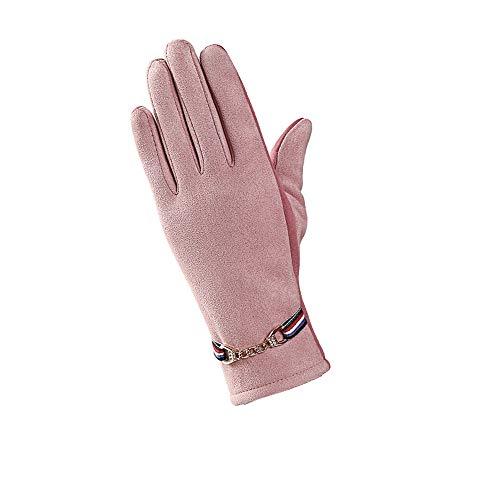 GladiolusA Frauen Handschuhe Atmungsaktive Rutschfeste Touchscreen Warme Fingerhandschuhe Winterhandschuhe Outdoor Fahrradhandschuhe CPink