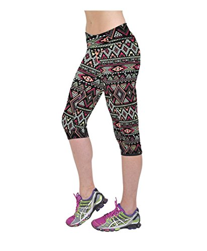 Amlaiworld Stretch ritagliata Leggings,Pantaloni a vita alta Fitness Yoga Sport stampato Stretch ritagliata Leggings (Multicolor, XL)