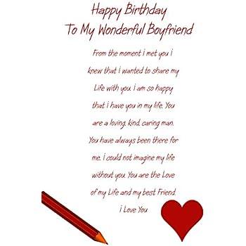 Boyfriend Birthday Card Amazoncouk Office Products