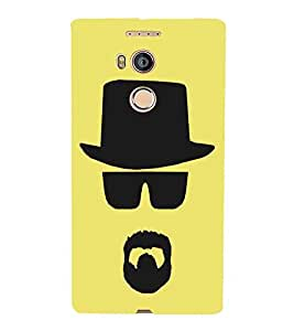 CAP, Black, Beared Pattern, Beautiful Pattern, Printed Designer Back Case Cover for Gionee Elife E8