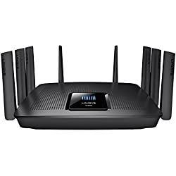 Linksys EA9500-EU - Router Gigabit MU-MIMO AC5400 (8 Antenas, CPU 1,4 GHz, Beamforming, 8xGigabit Ethernet, 1xUSB 3.0, Seguridad Avanzada, Acceso para Invitados, Triple Banda inalámbrica) Negro