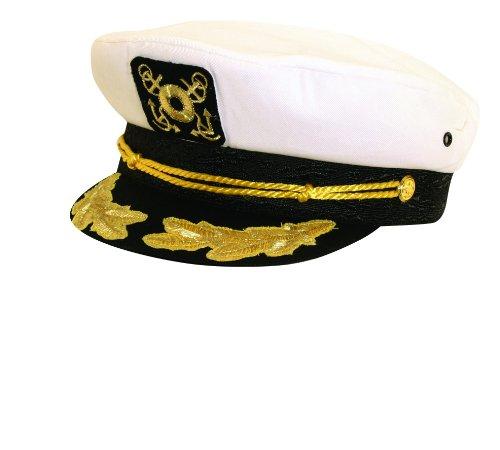 Dorfman Pacific Männer und Frauen Klassisch Nautisch Kapitän Hut (Dorfman Hut Pacific Baumwolle)