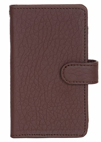 iBall Andi 5 E7 - Handmade Flip Wallet Leather Pouch Cover Comfortable & Stylish (Be Unique Buy Unique) Buy it Now By Senzoni  available at amazon for Rs.349