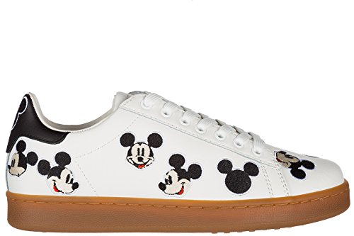 MOA Master of Arts Chaussures Baskets Sneakers Femme en Cuir Blanc