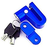 AON AUTO Heavy Metal Bike Disc Break Security Lock Universal for Bike/Scooty (Color May Vary)