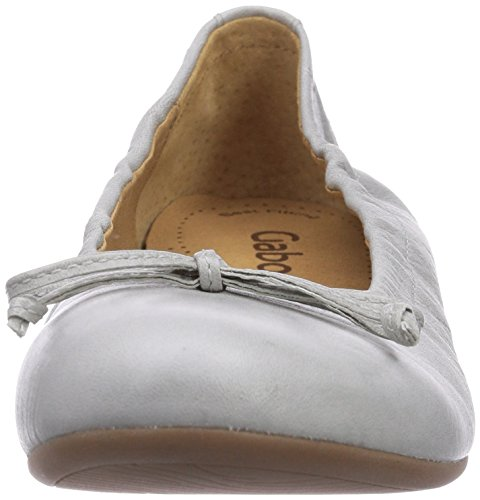 Gabor 24.120.27 Damen Geschlossen Ballerinas Silber (ice)