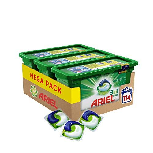 Ariel 3in1 PODS Vollwaschmittel, 114 Waschladungen (1 x 3 x 38 Waschladungen) -
