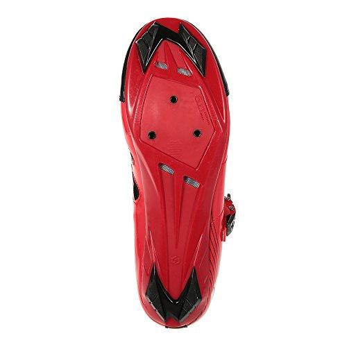 Docooler Chaussures de Course des Hommes Brûlent Route Vélo Chaussures de Course Professionnel Chaussures de Cyclisme rouge