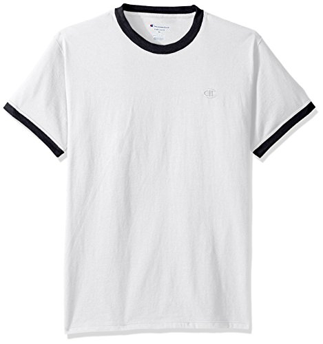Jersey Tee (Champion Men's Classic Jersey Ringer Tee S White)