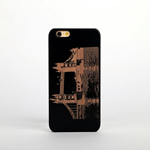 New Creative Wooden & PC hard case for Apple iPhone 6/6S STATUE OF LIBERTY LONDON BRIDGE