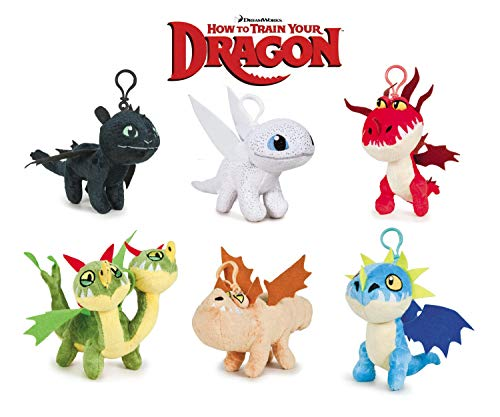 HTTYD Dragons, how to train your dragon - Pack of 6 Plush Toy Dragons Keychain 11cm Super Soft Quality 760017680