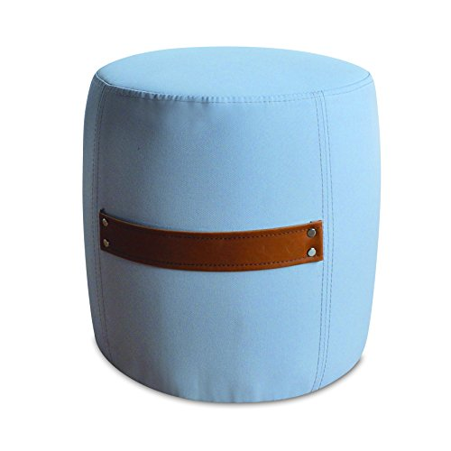 My Note Deco 065851 Mitsy Pouf Tissus Polyester Taupe/Brun 33 cm