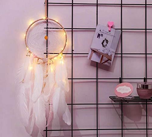 Lámpara de pared interior LED atrapasueños Yun Yu persiguiendo sueño niña regalo de cumpleaños decoración de la habitación del bebé Habitación de estilo nórdico para niños@UNA