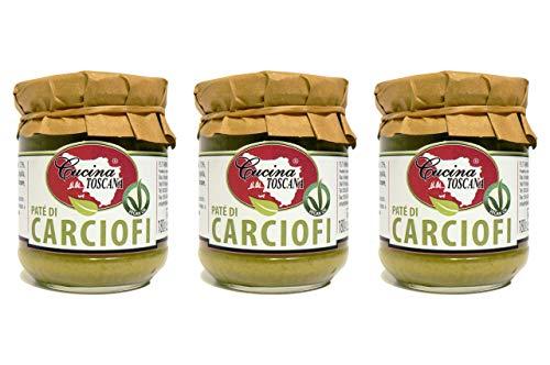 Spalmabili Vegetali 3x180g patè di Carciofi Vegan Ok Produzione Artigianale Cucina Toscana