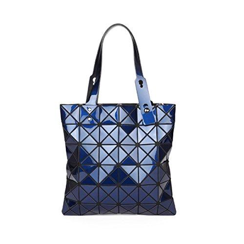 Handtaschen 2017 Neu Diamantgitter Handtasche Falten Lasergehäuse Blue