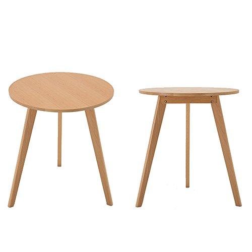 Table D'appoint Table Basse Tables Basses Tables À Café Balcon De Table Ronde À Trois Pieds Casual Simple Beech (couleur Bois Naturel 4 Styles Disponibles) TINGTING (taille : D -64.5 * 72cm)
