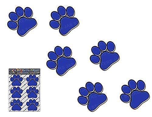 IMPRESIONES DE PATA AZUL Animal pequeño gato mascota paquete de perro calcomanías...