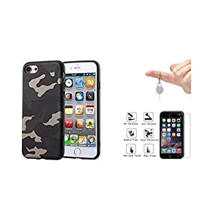 iPhone 7 case, iPhone 8 Case, offered 1 Protection iPhone screen in toughened glass and Tool Carries key Ejection card Sim by AGDs [Camouflage, US Army] protection for Apple of 4.7 inch - G