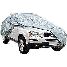 Funda exterior premium para Ssangyong REXTON, impermeable, doble capa sintética y de finas trazas de algodón por el interior, transpirable para evitar la condensación en el parabrisas.