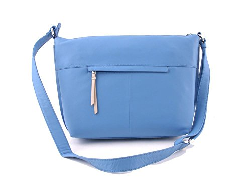 Bree Toulouse 2, Dark Brown, Cross Shoulder M, Sacs bandoulière Femme Bleu - Blau (riviera 230)