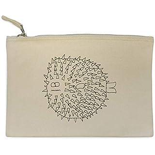 'Puffer Fish' Canvas Clutch Bag / Accessory Case (CL00004440)