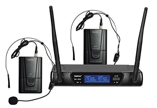 Karma SET 6092LAV Doppio Radiomicrofono ad Archetto, Nero