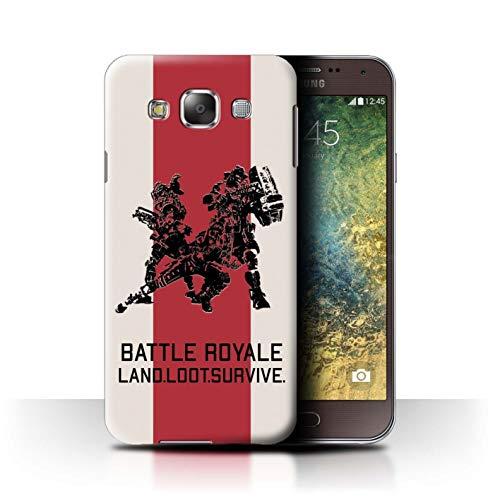 W3Tech Hülle/Case für Samsung Galaxy E5/E500 / Land Beute Überleben Muster/Kampf Royale Legenden Kollektion