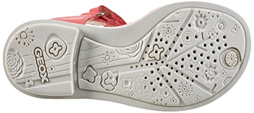 Geox Giglio A, Sandales Bout Ouvert Fille Rouge (Coralc7008)