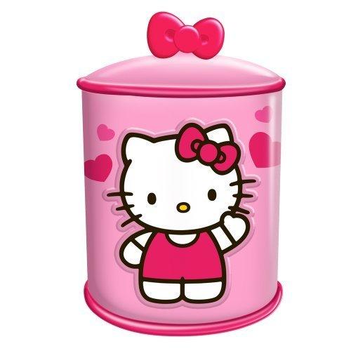 Vandor 18141 Hello Kitty Cupcake Ceramic Cylinder Cookie Jar, Pink and White by Vandor -