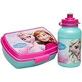 Frozen El Reino del Hielo Set de Regalo Cantimplora & Fiambrera Box Anna & Elsa