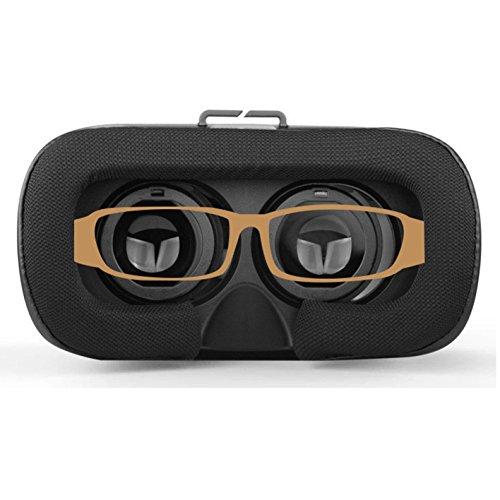 Zetong Tech VR Brille,3D-VR-Box Headset Brillen Virtual Reality Handy 3D-Filme für iPhone 6s/6 plus Samsung Galaxy s5/s6/note4/note5,fuer 4,7 -6,0 smartphones