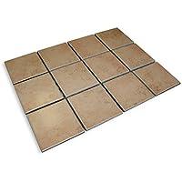 8 Matten Mosaikfliesen Toscana Cotto, Matte 31x41cm, Fliese 10x10 Cm U003d Ca. 1