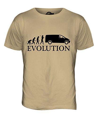 CandyMix Guidatore Di Van Evoluzione Umana T-Shirt da Uomo Maglietta Caramello