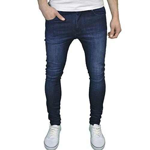 Enzo Herren Jeanshose Blau dunkel Stonewash 36 W/34 L (Dunkle Jeans Stonewash)