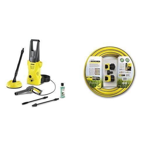 Kärcher K 2 Home T 50 - Limpiador de alta presión + Set de tubos para limpiadora alta presión, color negro y amarillo