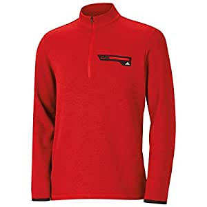 2015 Adidas Sport Half-Zip Performance Training Pullover Mens Golf Sweater Power Red Heather XL