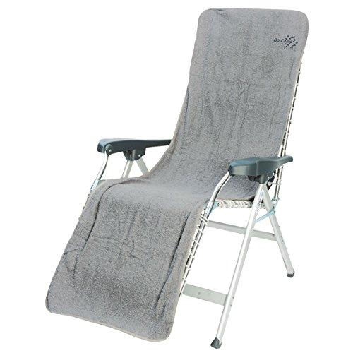 Preisvergleich Produktbild Frottee-Sitzbezug Cover L Baumwolle hellgrau 180x58 cm - Frottee Schonbezug Gartenstuhl Auflage Sonnenliege Liegestuhlauflage Liegenbezug